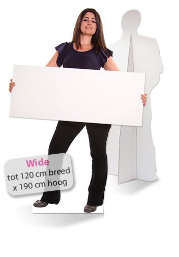 Lifesizers Wide, De meest brede (120 cm) levensgrote foto van karton