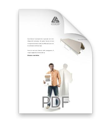 Download instructiesheet voor vouwwijze van de zelfklevende steun