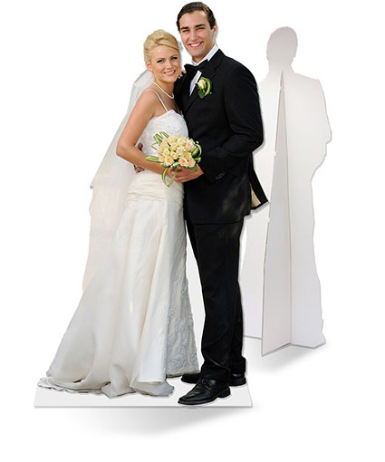 Life size wedding picture cut-out