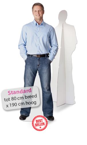 Lifesizers Standard, de meest gekozen Lifesizers met levensgrote foto van karton