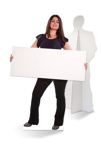 lifesizers wide is een brede levensgrote foto als standee, gemaakt van karton