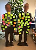 kartonnen cut-out van een foto bestel je in Hengelo